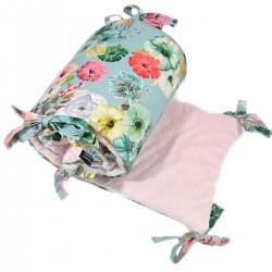 Ochraniacz do łóżeczka 60x120cm - Pink Camilla Gardens