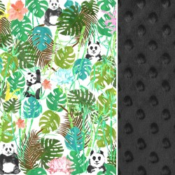 Koc Black Jungle Bears140x200cm
