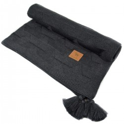 Knitted Blanket 75x100cm Dark Grey Paper Boats