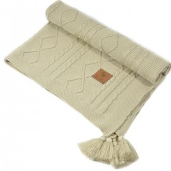 Knitted Blanket 75x100cm Latte Fancy