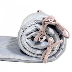Ochraniacz do łóżeczka - Grey Velvet 60x120
