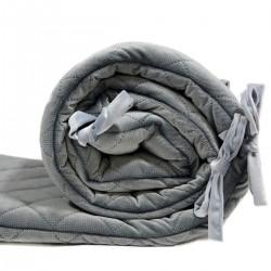 Ochraniacz do łóżeczka - Dark Grey Velvet 60x120