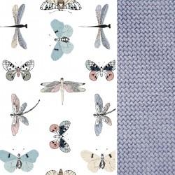 Preschooler Bed Pillow 40x60 Grey Wings - Velvet