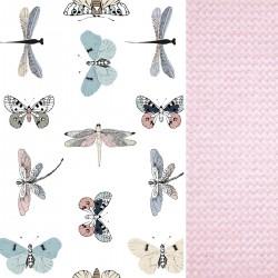 Preschooler Bed Pillow 40x60 Pink Wings - Velvet