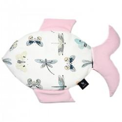 Fish Pillow Pink Wings - Velvet