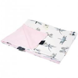Kocyk Letni Pink Wings 60x70cm - Velvet