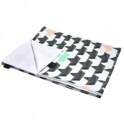 Preschooler Blanket Light 100x130 Peach Springflakes - Velvet