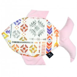 Fish Pillow Pink Light Boho - Velvet