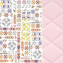 Preschooler Bed Pillow 40x60 Pink Light Boho - Velvet