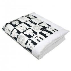 Newborn Blanket 60x70cm White Wonderland - Velvet