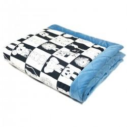 Newborn Blanket 60x70cm Blue Wonderland - Velvet