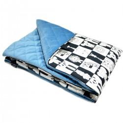 Preschooler Blanket 100x130cm Blue Wonderland - Velvet