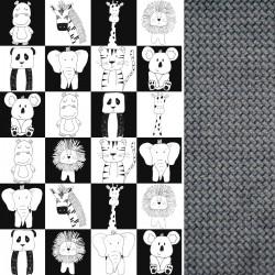 Poduszka Fisherka - Velvet Dark Grey Wonderland