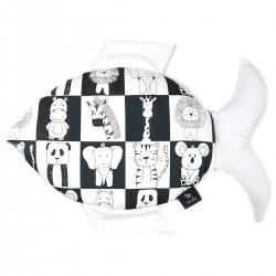 Fish Pillow White Wonderland - Velvet