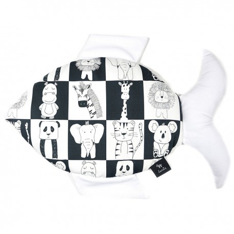 Poduszka Fisherka - Velvet White Wonderland