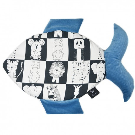 Poduszka Fisherka - Velvet Blue Wonderland