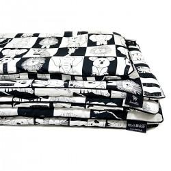Beddings with Filling 100x135cm Black Wonderland