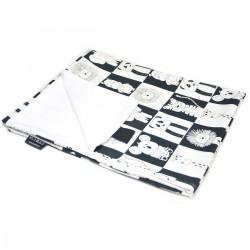 Newborn Blanket Light 60x70 White Wonderland - Velvet