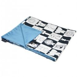 Newborn Blanket Light 60x70 Blue Wonderland - Velvet