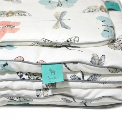 Beddings with Filling 75x100cm 100% Bamboo Grey Wings