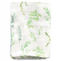 Baby Muslin Swaddle 100% Bamboo 100x120cm Springflakes