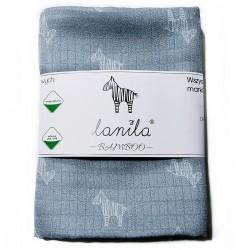 Baby Muslin Swaddle 100% Bamboo 100x120cm Grey Lanila