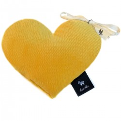 Velvet Mini Heart - Curry