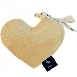 Velvet Mini Heart - Banana