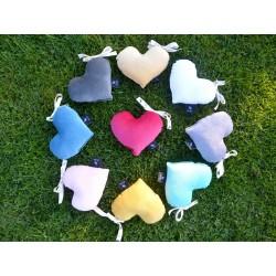 Velvet Mini Heart - Aqua