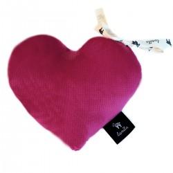Velvet Mini Heart - Cherry