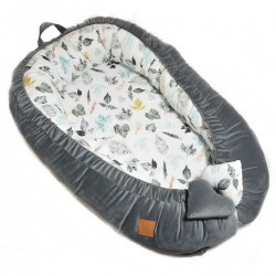 Baby Nest Dark Grey Goldenprint - Velvet