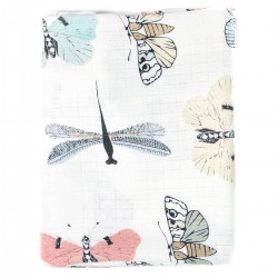 Baby Muslin Swaddle 100% Bamboo 75x75cm Wings