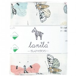 Baby Muslin Swaddle 100% Bamboo 100x120cm Wings
