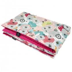 Preschooler Blanket 100x130cm Raspberry Cherry Bloom - Velvet