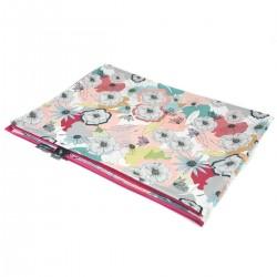 Newborn Blanket Light 60x70 Raspberry Cherry Bloom - Velvet