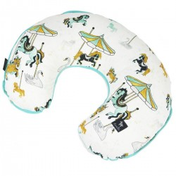 Breastfeeding Pillow Aqua Funfair - Velvet
