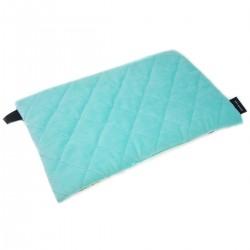 Medium Bed Pillow 25x40 Aqua Funfair - Velvet