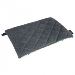 Medium Bed Pillow 25x40 Dark Grey Funfair - Velvet