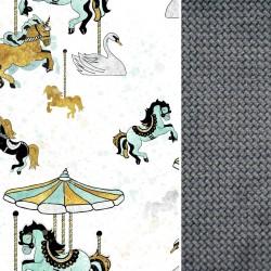 Poduszka Motylek - Velvet Dark Grey Funfair