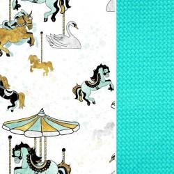 Poduszka Motylek - Velvet Aqua Funfair