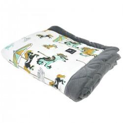 Newborn Blanket 60x70cm Dark Grey Funfair - Velvet