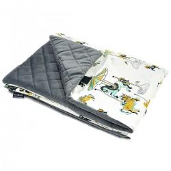 Preschooler Blanket 100x130cm Dark Grey Funfair - Velvet