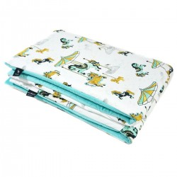 Preschooler Blanket 100x130cm Aqua Funfair - Velvet