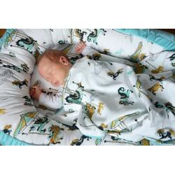 Newborn Blanket Light 60x70 Dark Grey Funfair - Velvet