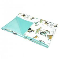 Newborn Blanket Light 60x70 Aqua Funfair - Velvet