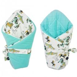 Cone Coverlet Aqua Funfair - Velvet