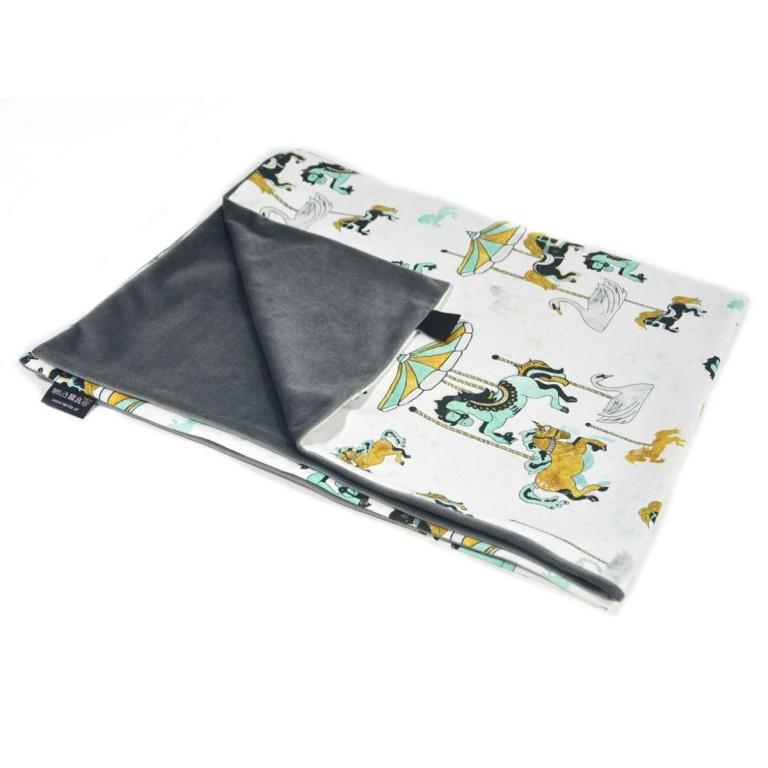 Preschooler Blanket Light 100x130 Dark Grey Funfair - Velvet