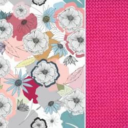 Stroller Pad Raspberry Cherry Bloom - Velvet