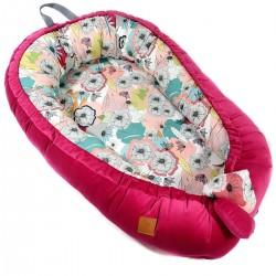 Baby Nest Raspberry Cherry Bloom - Velvet