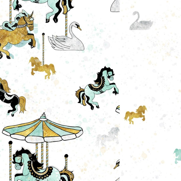 Pościel bawełniana Funfair 90 x 120cm